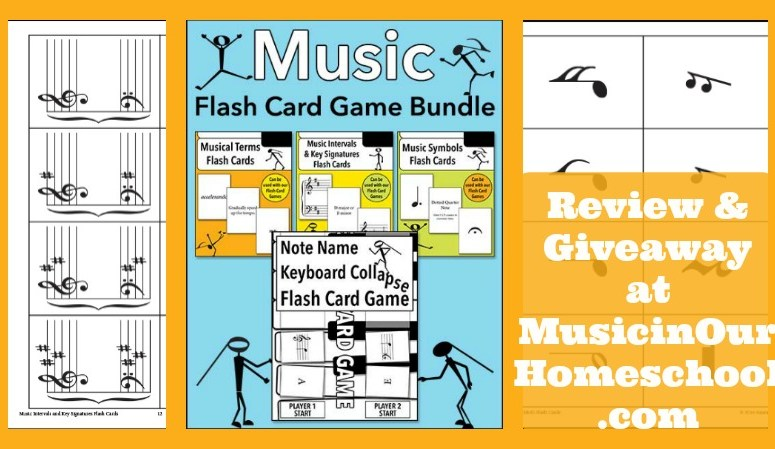 Review/ Giveaway: Music Flash Card Game Bundle