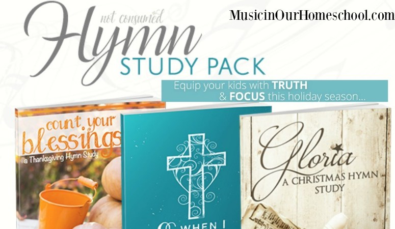 Learn about Great Hymns of Thanksgiving, Christmas, and Easter with this hymn study pack from Not Consumed