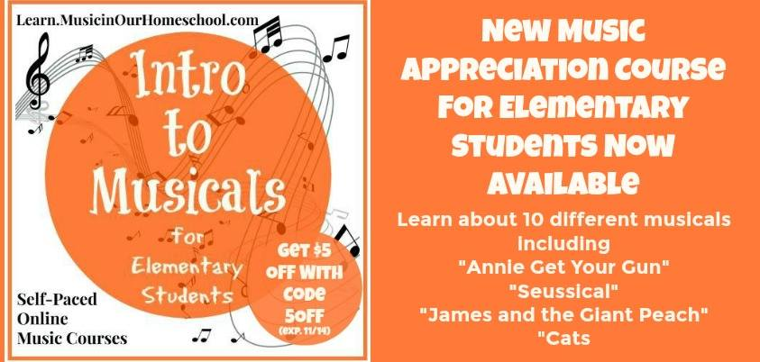 Intro to Musicals for Elementary Students self-paced online course. Use coupon code 5OFF to get $5 until 11/14