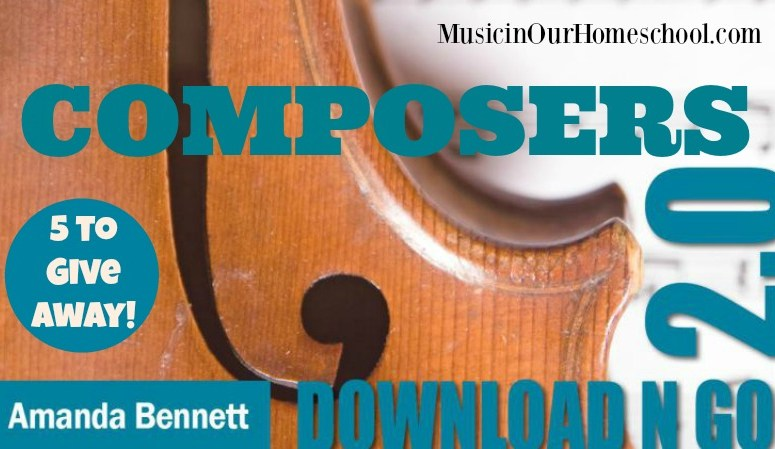 Giveaway Composers 2.0 Download N Go Unit Study By Amanda Bennett
