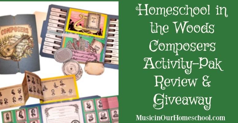 Composers Activity-Pak from Homeschool in the Woods (review and giveaway)