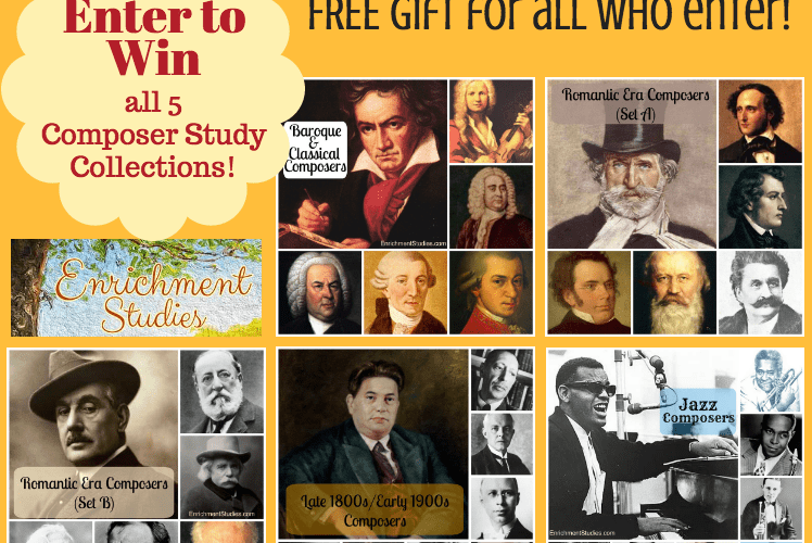 Giveaway of All 5 Enrichment Studies Composer Study Collections