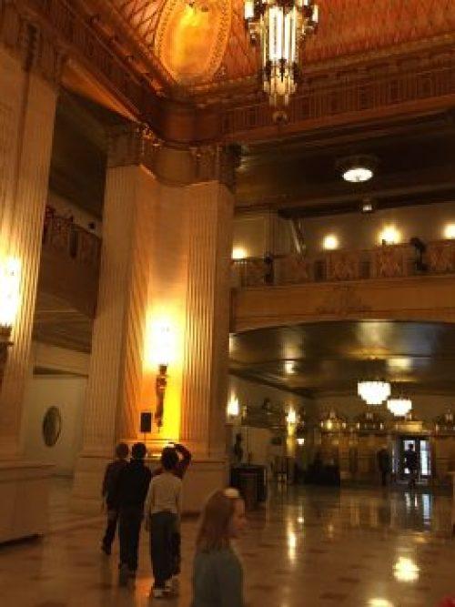 Chicago Lyric Opera lobby backstage tour