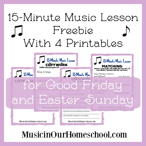 for Good Friday and Easter Sunday with 4 free printables
