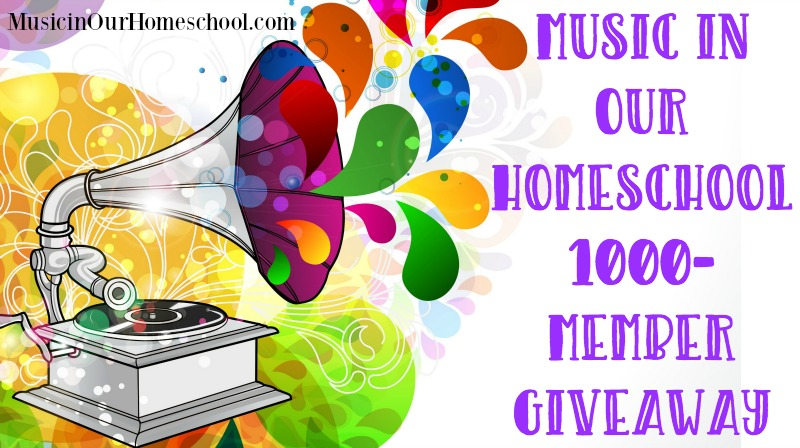 Music in Our Homeschool 1000-Member Giveaway slider
