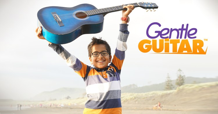 Take lessons in the comfort of your own home with Gentle Guitar (from Music in Our Homeschool)