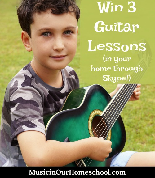 Gentle Guitar win 3 guitar lessons in your home through Skype.