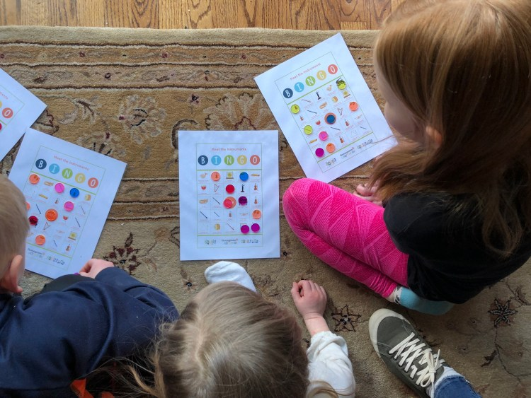 SQUILT now has a Meet the Instruments Bingo game that my kids enjoy playing! (From Music in Our Homeschool)