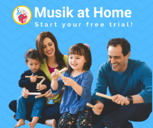 Musik at Home: start your free trial for early childhood music and movement classes!