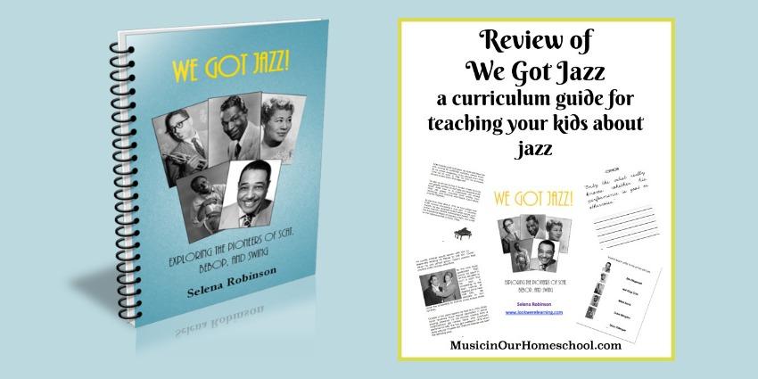We Got Jazz curriculum guide for kids