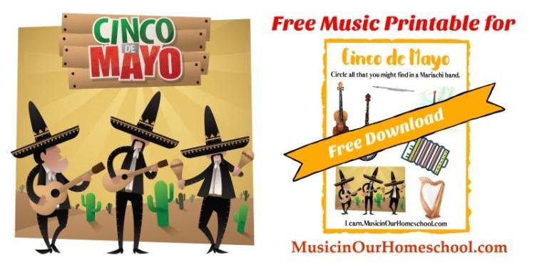 Free Music Printable for Cinco de Mayo