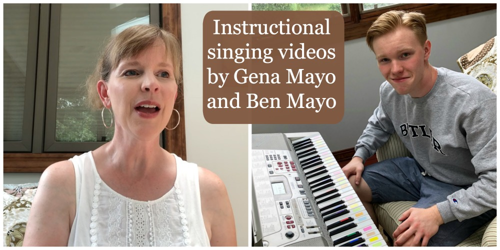 Great Hymns of the Faith online course Instructional Singing Videos by Gena Mayo and Ben Mayo. Best hymn study course ever!