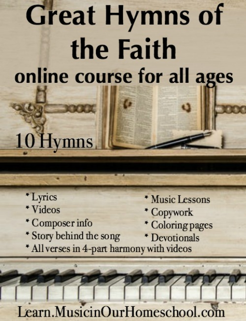 Great Hymns of the Faith online course for all ages. Best hymn study course ever!