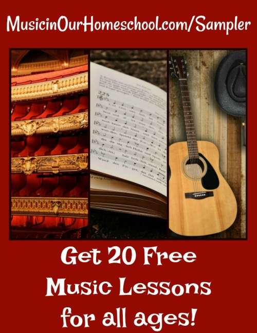 The Sampler Music Appreciation Course is FREE and provides 20 online music course lessons, great for all ages! From Learn.MusicinOurHomeschool.com