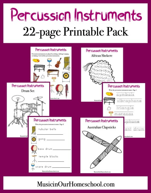 Elementary Music Fun Bundle of Activities: Percussion Instruments