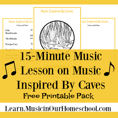 Music Inspired By Caves free printable pack
