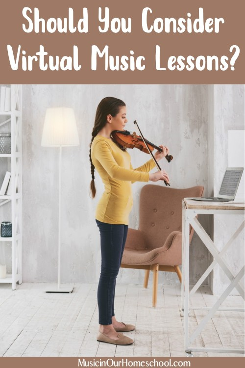 Should You Consider Virtual Music Lessons in your homeschool? See the pros and cons here.