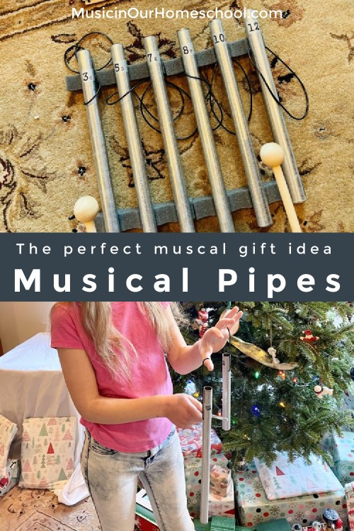 Musical Pipes homemade musical instrument for kids of ages and a perfect musical gift idea!
