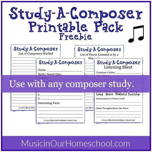 Study A Composer Printable Pack Freebie