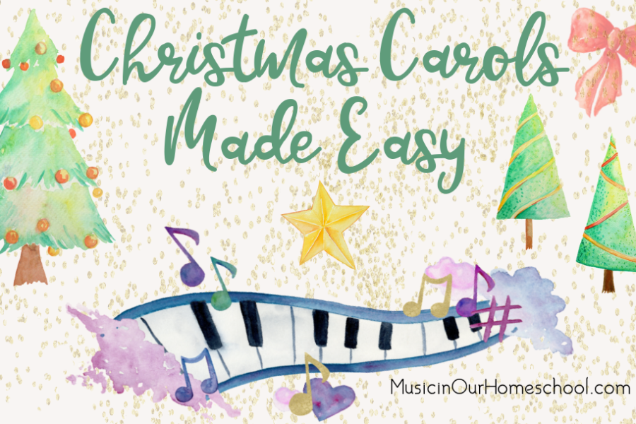 Christmas Carols Made Easy is a course for all ages to learn to sing together! From Music in Our Homeschool, beginning singing lessons with Christmas carols and Christmas songs.