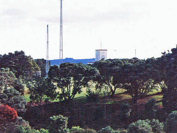 The west towers of ZLD as seen looking north from the direction finding aerials.