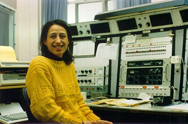 Radio operator Cilla Hardy at Auckland Radio ZLD