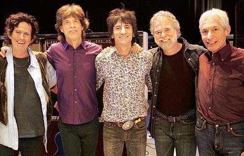 Chuck Leavell with the Rolling Stones
