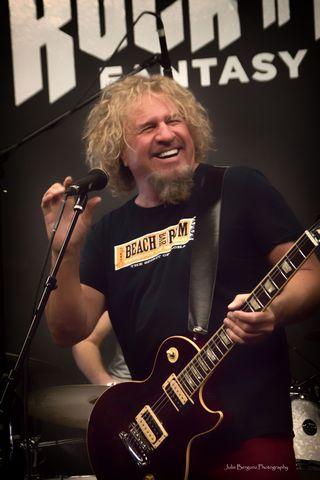 sammy hagar rock n roll fantasy camp chickenfoot guitar