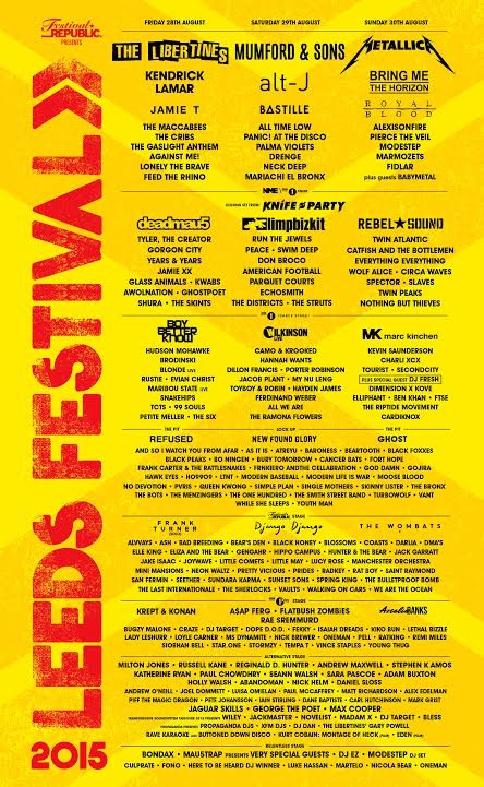 The Mallrats and Calls Landing to play Leeds & Reading festivals 2015