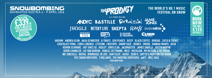 Snowbombing unveils the acts set to play at The Arctic Disco in 2016