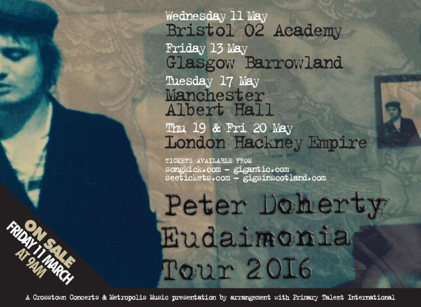 Peter Doherty announces more dates for Eudaimonia Tour
