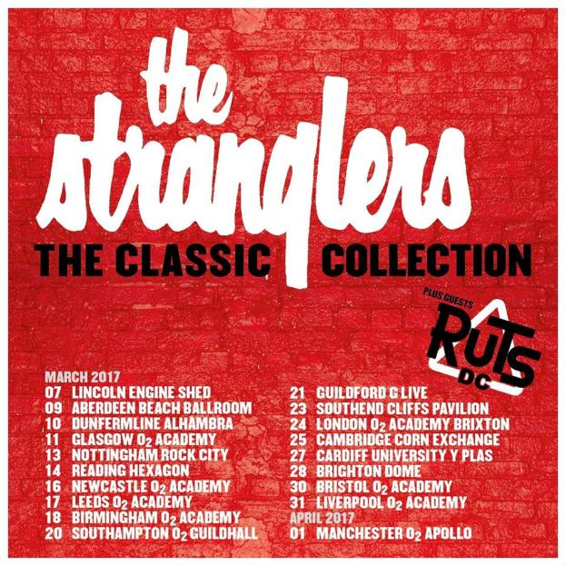 The Stranglers announce 'Classic Collection' 2017 UK Tour