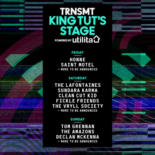 First artists announced for King Tut's Stage at TRNSMT Festival 2017
