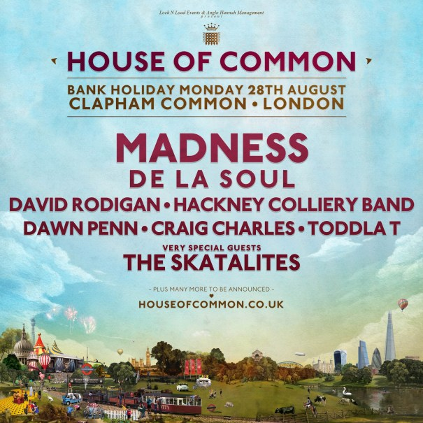 House of Common announce Craig Charles, Dawn Penn, Hackney Colliery Band, Toddla T