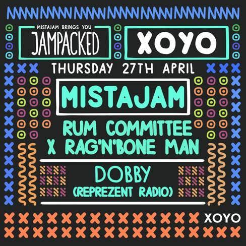 Rag 'n' Bone man to headline MistaJam's JamPacked at XOYO
