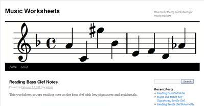 Free Music Theory Worksheets for Music Teachers - Music Matters Blog