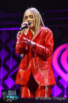 December 10, 2018 Sabrina Carpenter performs on stage as part of Hot 99.5's Jingle Ball 2018 Presented By Capital One at Capital One Arena on December 10, 2018 in Washington, DC (Photo By: Steve Trager/ The Photo Access )