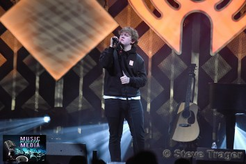 December 11, 2019 Lewis Capaldi performs on stage as part of Q 102's Jingle Ball 2019 Presented By Capital One at The Wells Fargo Center on December 11, 2019 in Philadelphia, Pa. (Photo By: Steve Trager/ The Photo Access )