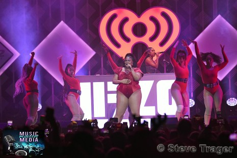 December 11, 2019 Lizzo performs on stage as part of Q 102's Jingle Ball 2019 Presented By Capital One at The Wells Fargo Center on December 11, 2019 in Philadelphia, Pa. (Photo By: Steve Trager/ The Photo Access )