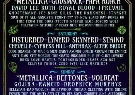 Disturbed New Album 2020.Epicenter 2020 Music Line Up Revealed Featuring Metallica