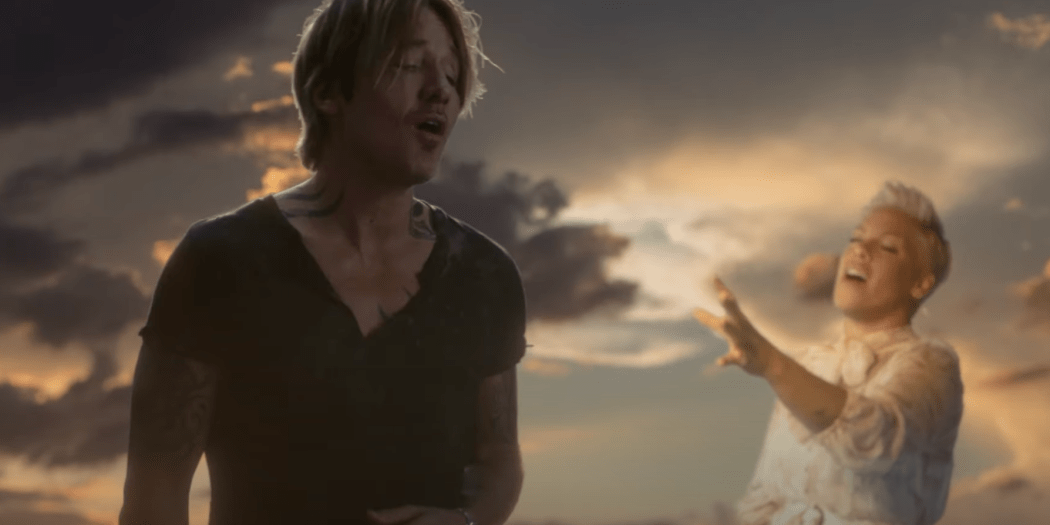 Keith Urban and P!nk; Courtesy of YouTube