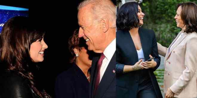 Demi Lovato with Joe Biden and Kamala Harris; Photo Courtesy of Lovato's IG
