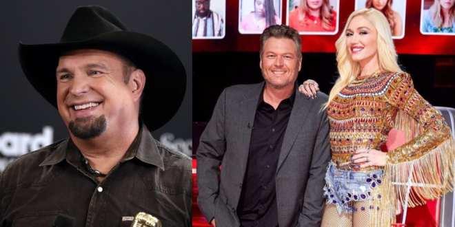 Garth Brooks, Blake Shelton and Gwen Stefani; Photos Courtesy of NBC