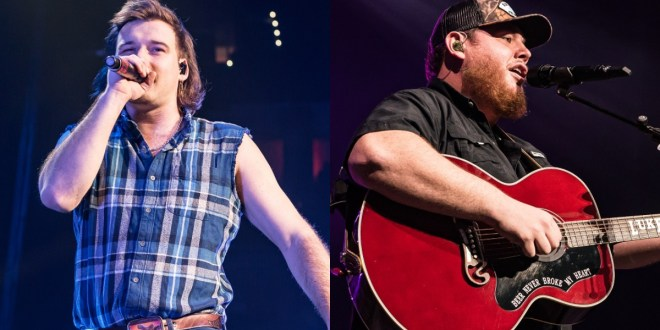 Morgan Wallen, Luke Combs; Photos By Andrew Wendowski