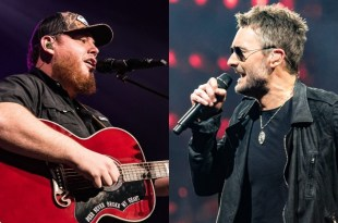 Luke Combs and Eric Church; Photo By Andrew Wendowski