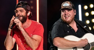 Thomas Rhett And Luke Combs; Photo By Andrew Wendowski