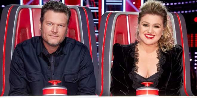 Blake Shelton and Kelly Clarkson; Photo Courtesy of NBC