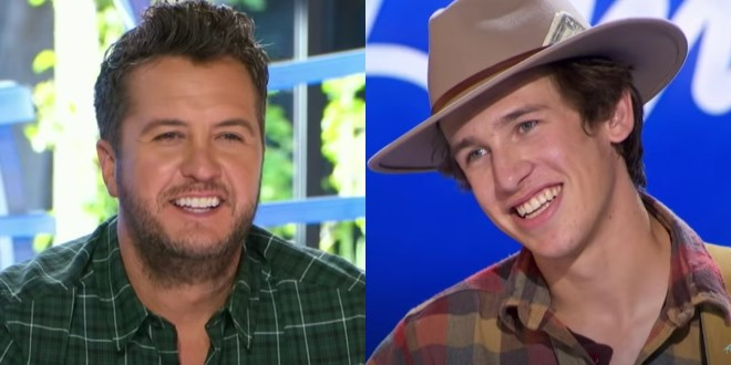 Luke Bryan and 'American Idol' Contestant Wyatt Pike; Photos Courtesy of ABC