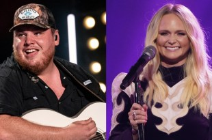 Luke Combs; Photo by Andrew Wendowski, Miranda Lambert; Photo Courtesy of CMA