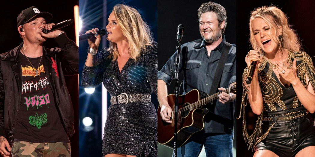Kane Brown, Miranda Lambert, Blake Shelton and Carrie Underwood; Photos By Andrew Wendowski
